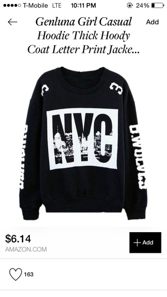 sweater new york city new york black white black and white fashion style urban