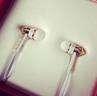 jewels gold earphones music