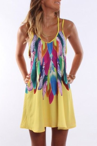 dress summer yellow sundress pink blue green red flowy summer nights date night