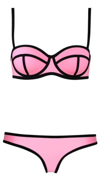 swimwear bikini pink triangl