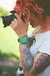 jewels,green,watch