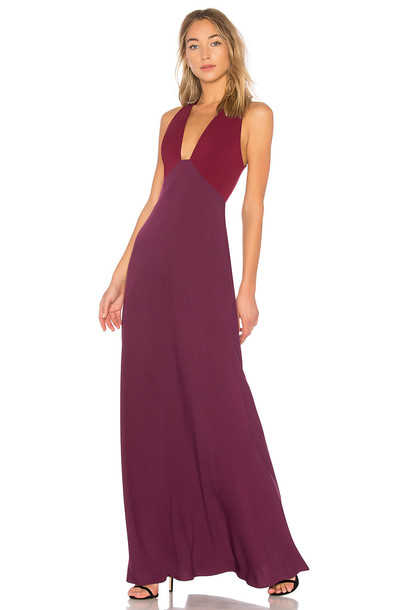Jill Jill Stuart gown v neck purple dress