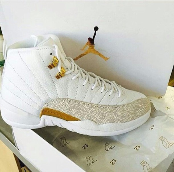 aa9e24b50ee shoes white grey jordan 12s jordans white and gold air jordan 12