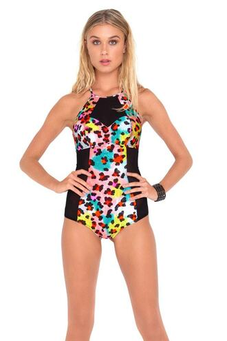 swimwear luli fama one piece swimsuit print bikiniluxe
