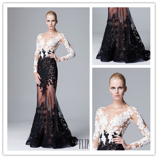 evening dress prom dress zuhair murad see through dress zuhair murad