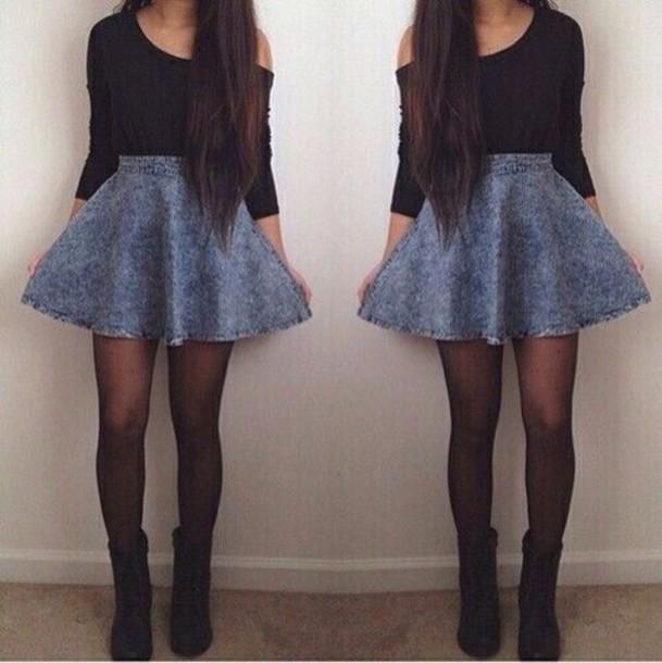 sweater skirt shoes underwear