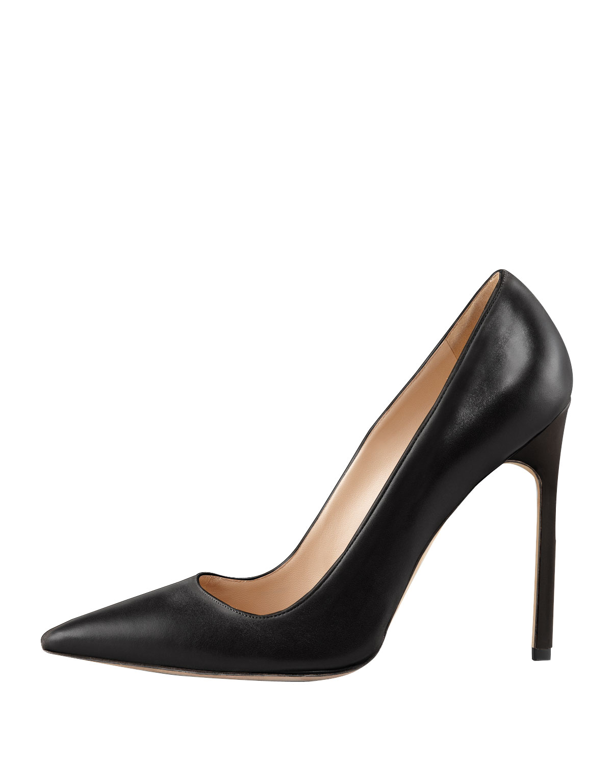Manolo Blahnik BB Leather 115mm Pump, Black (Made to Order)