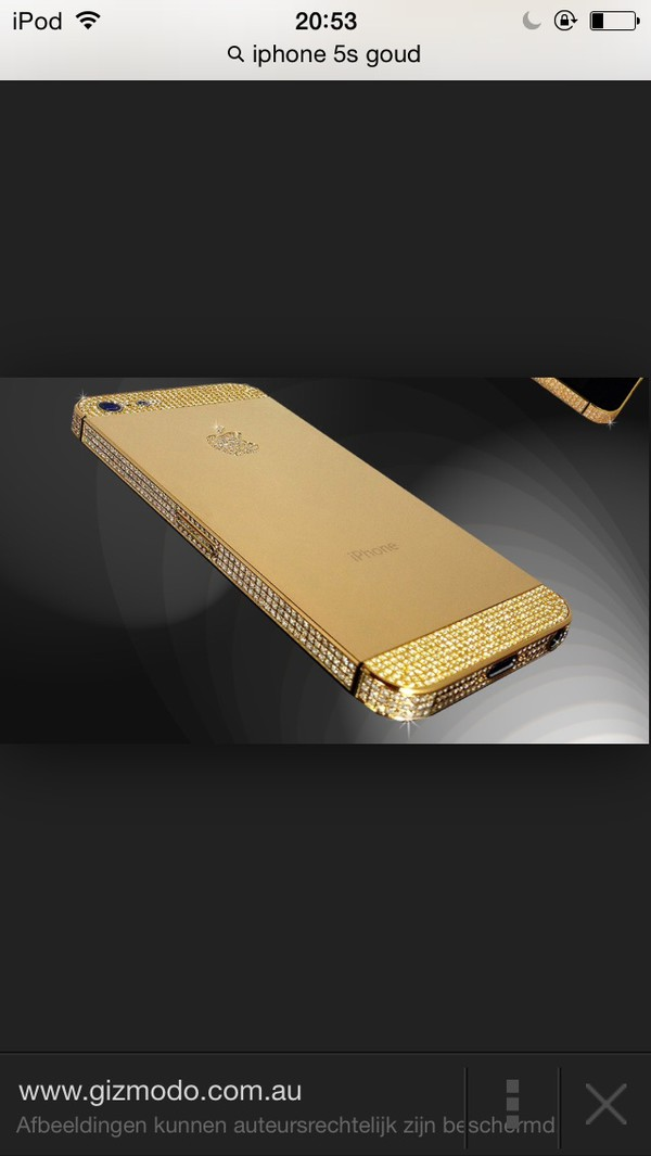 iphone 5s gold diamonds
