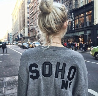 sweater grey black soft grunge hipster soho