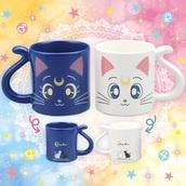 home accessory,mug,cup,sailor moon,artemis,luna,hawaiian,harakuju,pale