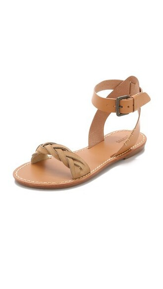 ankle strap braided sandals shoes