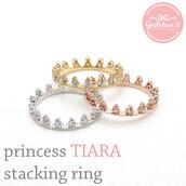 jewels,jewelry,ring,tiara,tiara ring,stacking ring,crown ring,wedding ring,prom