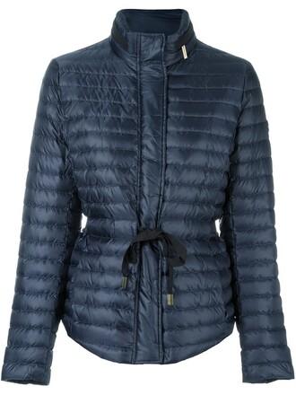 jacket women drawstring blue