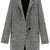 ROMWE | Pocketed Houndstooth Grey Coat, The Latest Street Fashion