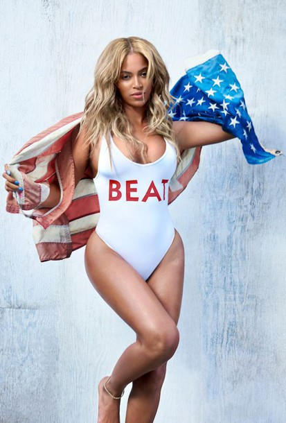 cd969db88f4 swimwear, beyonce, white, white swimwear, editorial, one piece ...