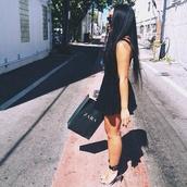 shoes,zara,little black dress,black,black skater dress,black shoes,transparent,transparent shoes,black sunglasses,glasses,dress