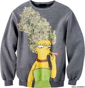sweater,marge simpson,weed,420,thesimpsons,sexy sweater,marijuana,mary janes,the simpsons,marijuana marge simpson sweater,the simpsons sweater,the simpson,smoking