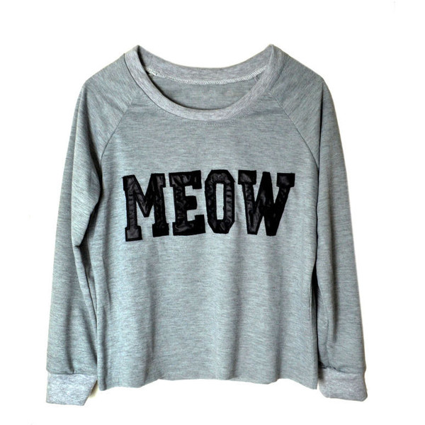 MEOW JUMPER - Polyvore