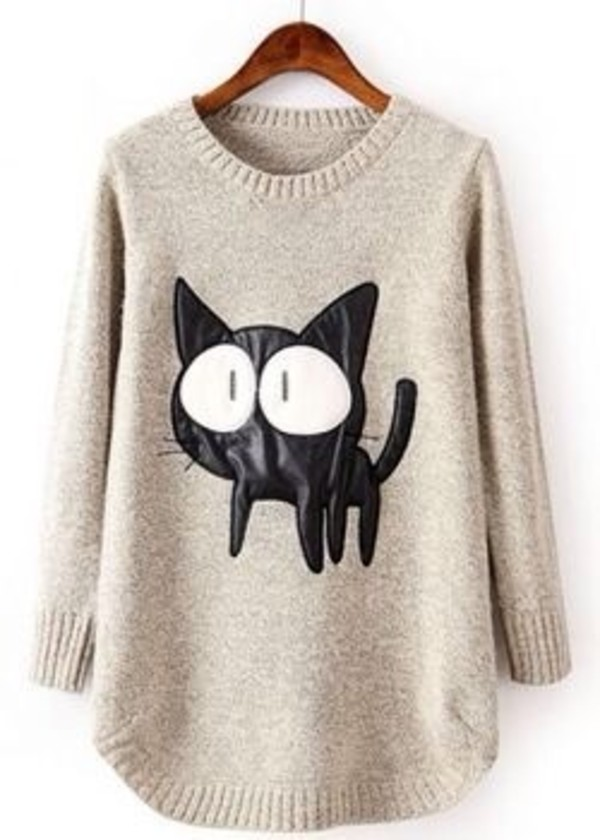 sweater cats oversized sweater