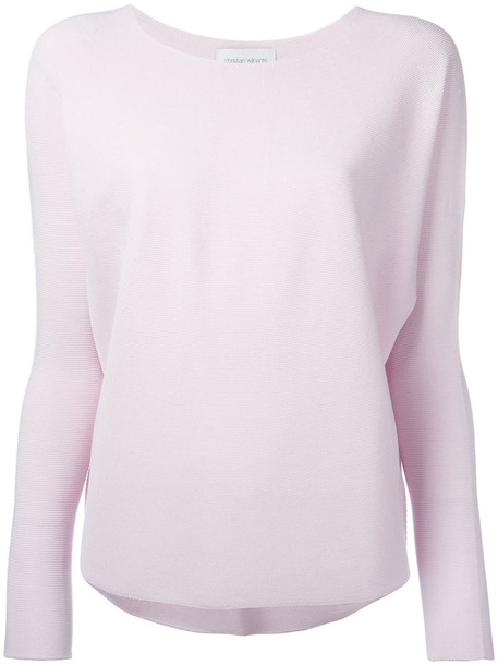top knitted top women cotton purple pink