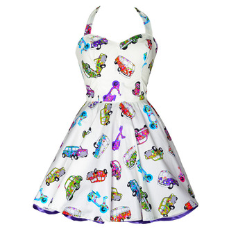 dress styleiconscloset halter dress car print white