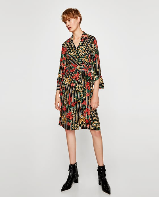 STRIPED AND FLORAL PRINT SHIRT DRESS - DRESSES | JUMPSUITS-SALE-WOMAN | ZARA Canada