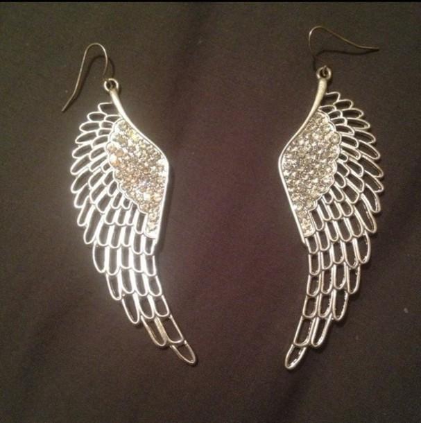 jewels wings angel silver trendy trendy angel wings accessories style fashion