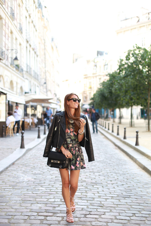 b a r t a b a c top skirt shoes bag jacket sunglasses