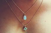 aqua,gemstone,necklace,jewels,jewelry,gemstone pendant,tumblr,choker necklace,boho,beach,blue,summer,accessories