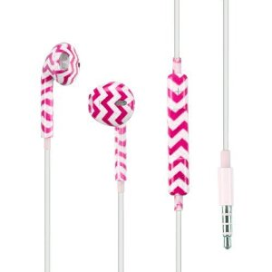 Amazon.com: Chevron Pink Headphones Headset Earphones Earbuds For Apple iPhone 3G 4 5 5C 6 6 PLUS: Cell Phones & Accessories