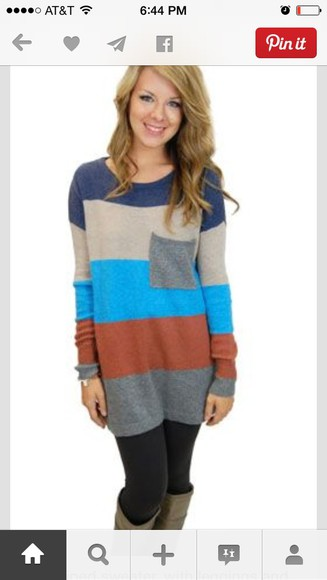 color block color blocking pocket stripes long sweaters