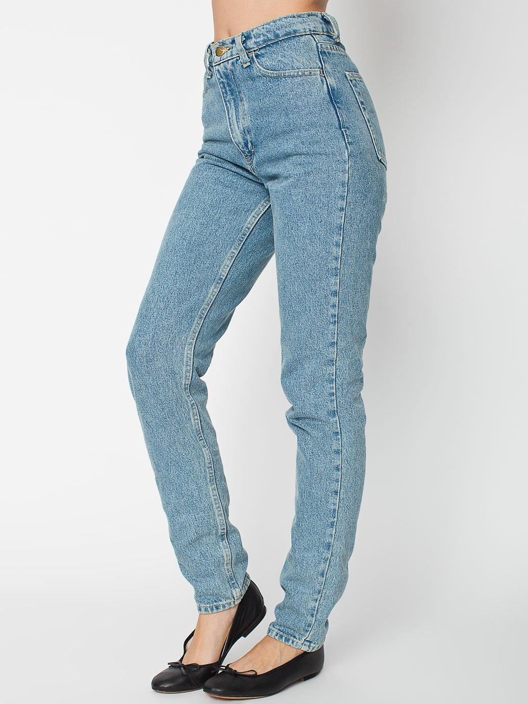 blue denim high waisted jeans - Jean Yu Beauty