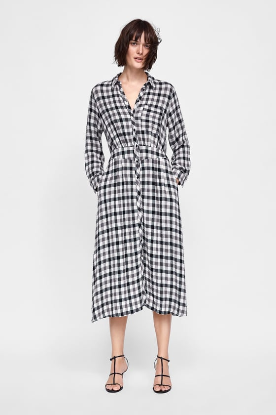 e803de8992f PLAID SHIRT DRESS