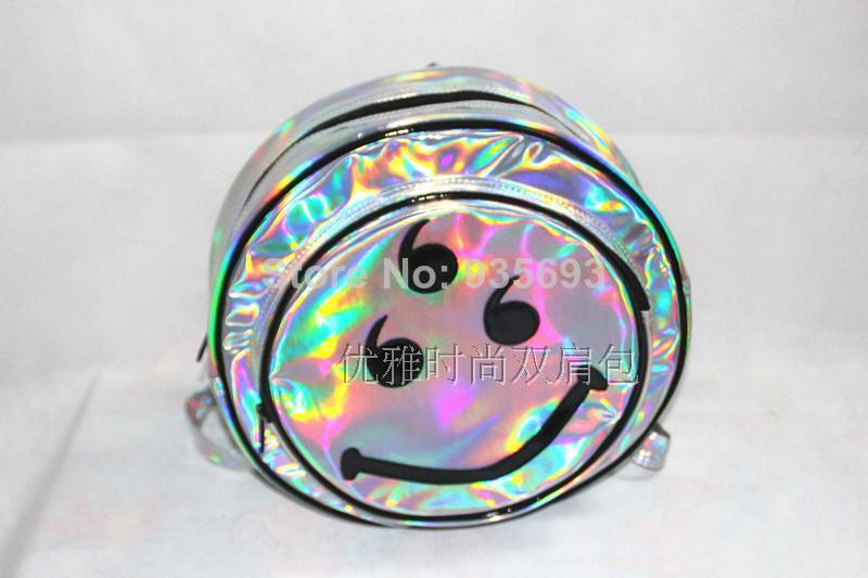Aliexpress.com : Buy Hot Hologram Holographic Envelope Clutch Bag Backpack Bag Silver Metallic Smiley Laser Circle HARAJUKU  Shoulder Bag from Reliable bags osprey suppliers on Online Store 935693