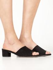 shoes,low black suede mules,mules,black mules,low suede black mules,pixiemarket