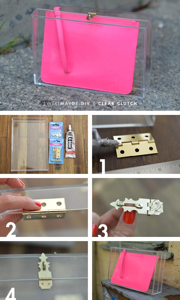 swellmayde: DIY   BOX CLEAR CLUTCH