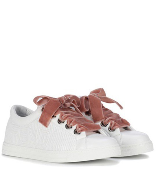 Fendi sneakers leather white shoes