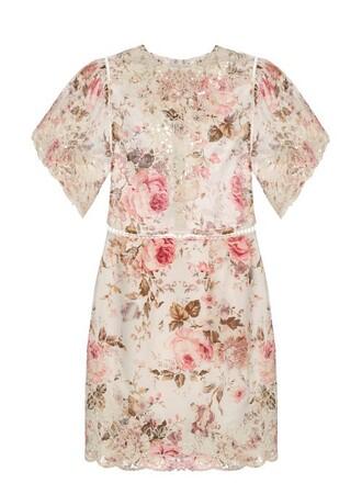 dress floral cotton print pink