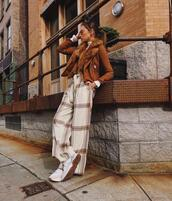 we wore what,blogger,pants,jacket,shoes,fall outfits,brown jacket