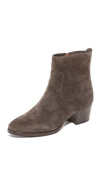 short zip smoke booties shoes