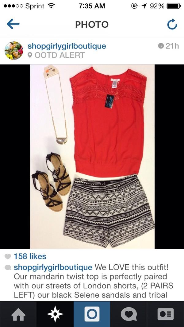 shorts black white pattern zentangle