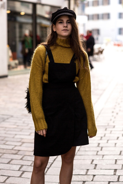 Coat: the fashion fraction, blogger, knitted sweater, overalls ...