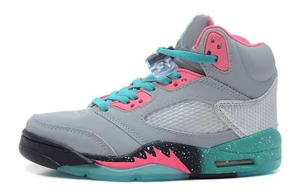 shoes sneakers air jordan heather grey pink aqua blue laces jumpsuit jeans