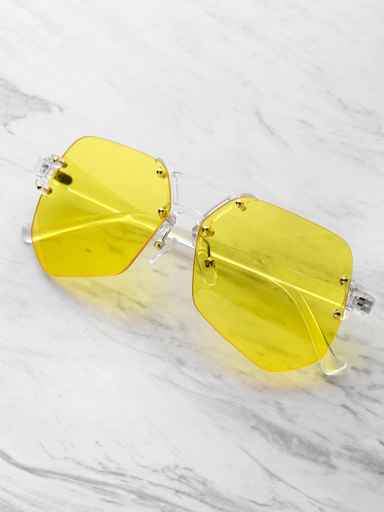 4396b98849 Clear Frame Contrast Lens Glasses -SheIn(Sheinside)