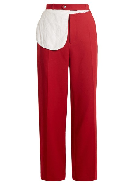 Joseph wool red pants