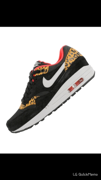 shoes air max 1 air max nike leopard print leopard