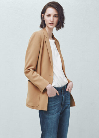 jacket blazer classic business casual stylish mango