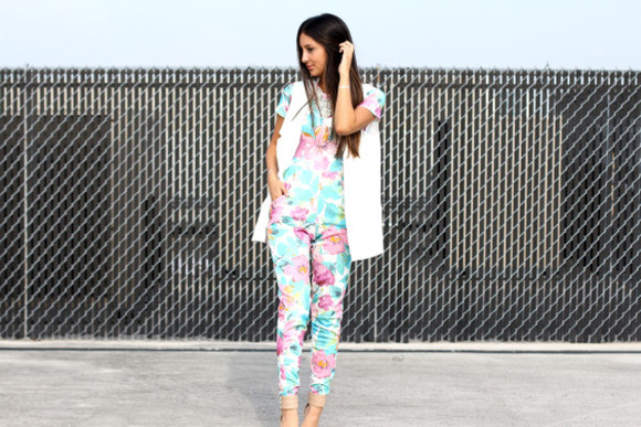 jewels shoes sunglasses jumpsuit jacket the material girl