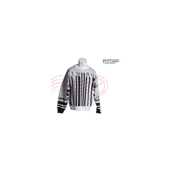 PORTAGE CHICAGO — JEREMY SCOTT BARCODE SWEATER MED - Polyvore