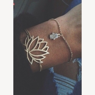 jewels floral beautiful bracelets bracelets lotus flower bracelet gold chain lotus flower gold bracelets